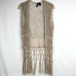 Full Tilt crochet fringe festival vest